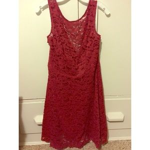 Short Sleeveless All Over Lace Dress